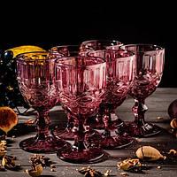Келих для вина «Вінтаж», 260 мл, колір рожевий.