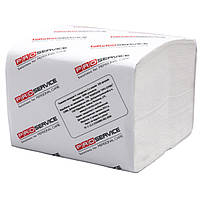 Папiр туалетний PROservice 32660600 бiлий 1пач/300арк 22,5х11,25см 2-х-шар в аркушах целюлозний
