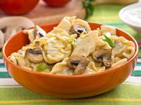 Вареники картошка с грибами