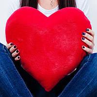 Мягкая подушка в форме сердца, размер - 40 см. Популярная игрушка. Милая красивая игрушка. Код: КЕ464