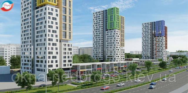 Остекление квартир киев, Остекление квартиры ПВХ, остекление квартиры под ключ, пластиковые окна для остекления квартиры,