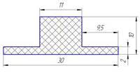 Шевроны Т10х30 для изготовления шевронных конвейерных лент