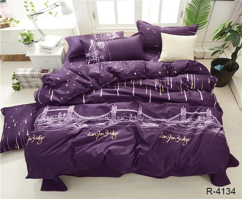 Полуторный комплект постельного белья ранфорс с компаньоном R4134