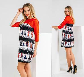 Яркое короткое платье s,m,l