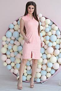 Деловое платье с v-образным вырезом 42, 44, 46