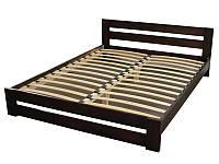 """Двуспальная кровать """"Хай тек"""" из массива натурального дерева"""