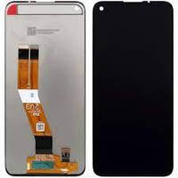 Дисплей для Samsung A115 Galaxy A11, M115 Galaxy M11 (GH81-18760A) без рамки, Black (Service Pack Original)