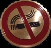"""Табличка """"Курение запрещено"""" настенная латунная"""