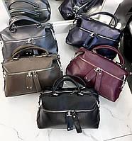 Модные вместительные сумки женские сумка шоппер экокожа с короткими ручками