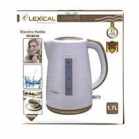 Електричний чайник LEXICAL LEK-1401 1.7л, 2200Вт (Бежевий, Рожевий) MS