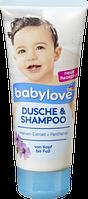 Душ шампунь  babylove Dusche & Shampoo, 200 ml