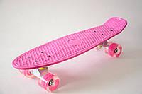 Пенни борд Penny - Лиловый с пурпурными - прозрачными колесами