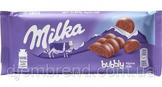 Шоколад пористий Альпійське молоко Bubbly Alpine Milk Milka, 90 гр.