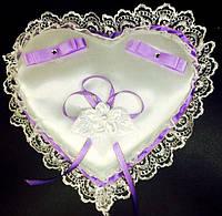 Подушечка-сердце под обручальные кольца