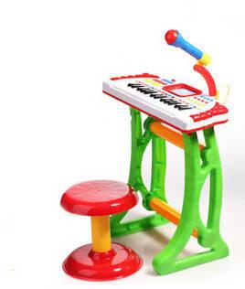 Детский синтезатор на ножках Baby Tilly 3032А, микрофон, стульчик, фото 2