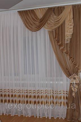 Ламбрекен со шторой универсальный размер Джулия, фото 2