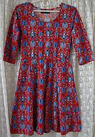 Платье женское яркое модное демисезонное мини бренд Atmosphere р.42 5359а