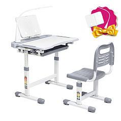 Ергономічний комплект Cubby парта і стілець-трансформери Vanda Grey