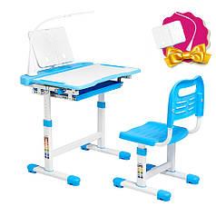 Ергономічний комплект Cubby парта і стілець-трансформери Vanda Blue
