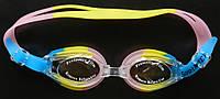 Очки для плавания разноцветные (антифог, сменные переносицы, размер универсальный), фото 1