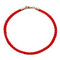 Браслет червона нитка позолота «Перепліт»