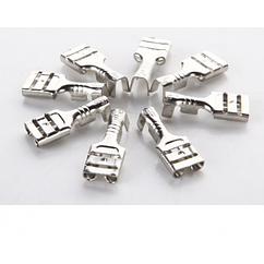 Клемма F1 мама, 4.8 мм, провод 0.5-1.5, изолированная, латунь, 100шт в упаковке, цена за упаковку