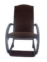 Кресло качалка темно-коричневое