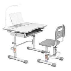 Ергономічний комплект Cubby парта і стілець-трансформери Botero Grey