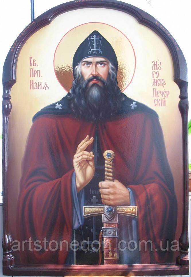 """Икона писаная """"Преподобный Илия Муромец, Печерский"""""""