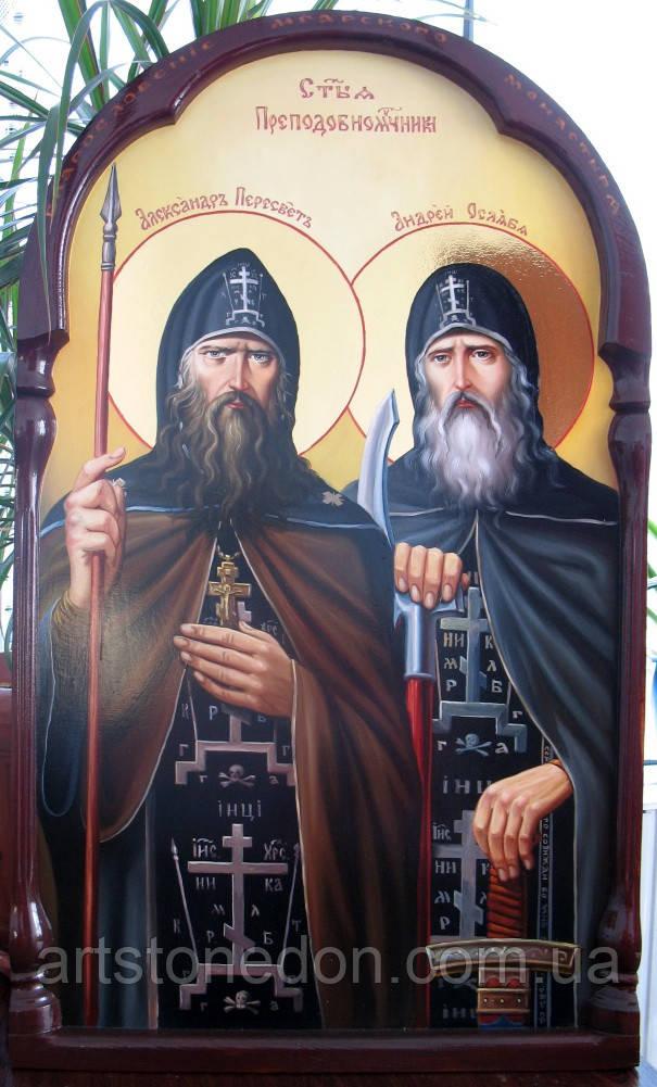 Икона Преподобные Александр Пересвет и Андрей Ослябя