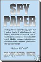 Шпионская бумага для секретных записей, мгновенно растворяющаяся в воде