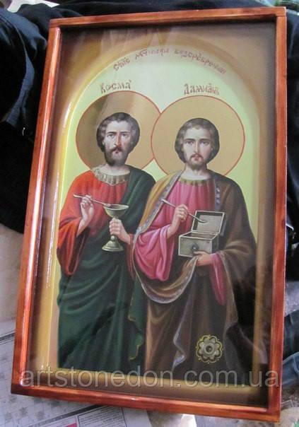 """Икона """"Святые мученики, чудотворцы и бессребреники Косма и Дамиан"""""""