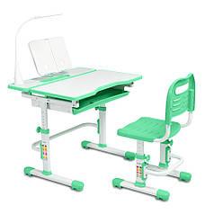 Ергономічний комплект Cubby парта і стілець-трансформери Botero Green