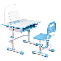 Ергономічний комплект Cubby парта і стілець-трансформери Botero Blue