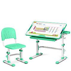 Комплект парта + стілець трансформери Cubby DISA GREEN