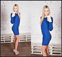 Вязанное короткое облегающее платье