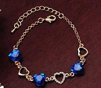761 - Женская бижутерия браслет с кристаллами, покрытый золотом