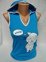 Женские маечки с капюшоном оптом купить, фото 1
