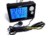 Автомобильные часы термометр вольтметр VST 7048V ВАЗ 2110
