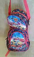 Рюкзак подростковый,вместительный.ТАЧКИ