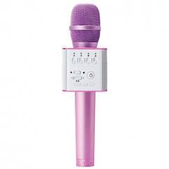 Мікрофон для караоке Q9 (Рожевий)