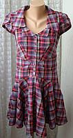 Платье женское летнее хлопок мини бренд Ted Baker р.46 5373
