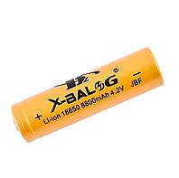 Аккумулятор 18650 Li-ion X-Balog 8800 mAh (250 mAh) 4.2v Gold, аккумуляторная батарейка литиевая (NS)
