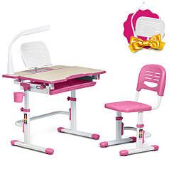 Зростаюча парта + стілець для школяра Fundesk Lavoro Pink