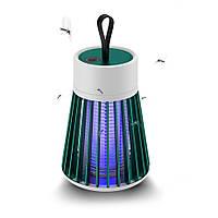 Лампа от комаров mosquito killer lamp BG-002 Зеленая, электро ловушка для насекомых (лампа від комарів) (NS)