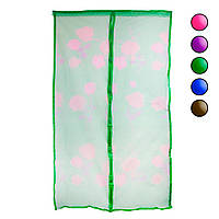 Москитная сетка 120х210см Зеленая с рисунком, противомоскитная сетка от мух на двери (антимоскітна сітка) (NS)