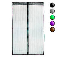 Москитная сетка на магнитах 120х208 см Черная однотонная, антимоскитная сетка на дверь (маскітна сітка) (NS)