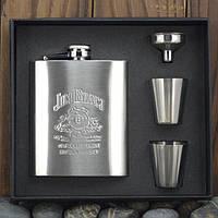 Набор Jim Beam фляга и четыре стаканчика оригинал