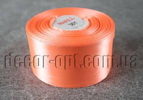 Лента атласная морковная 5,00 см 36ярд код22