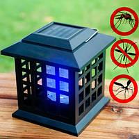 Светодиодная лампа от комаров уличная Solar Monster Zapper 2 в 1, фонарь от комаров на солнечной батарее (NS)